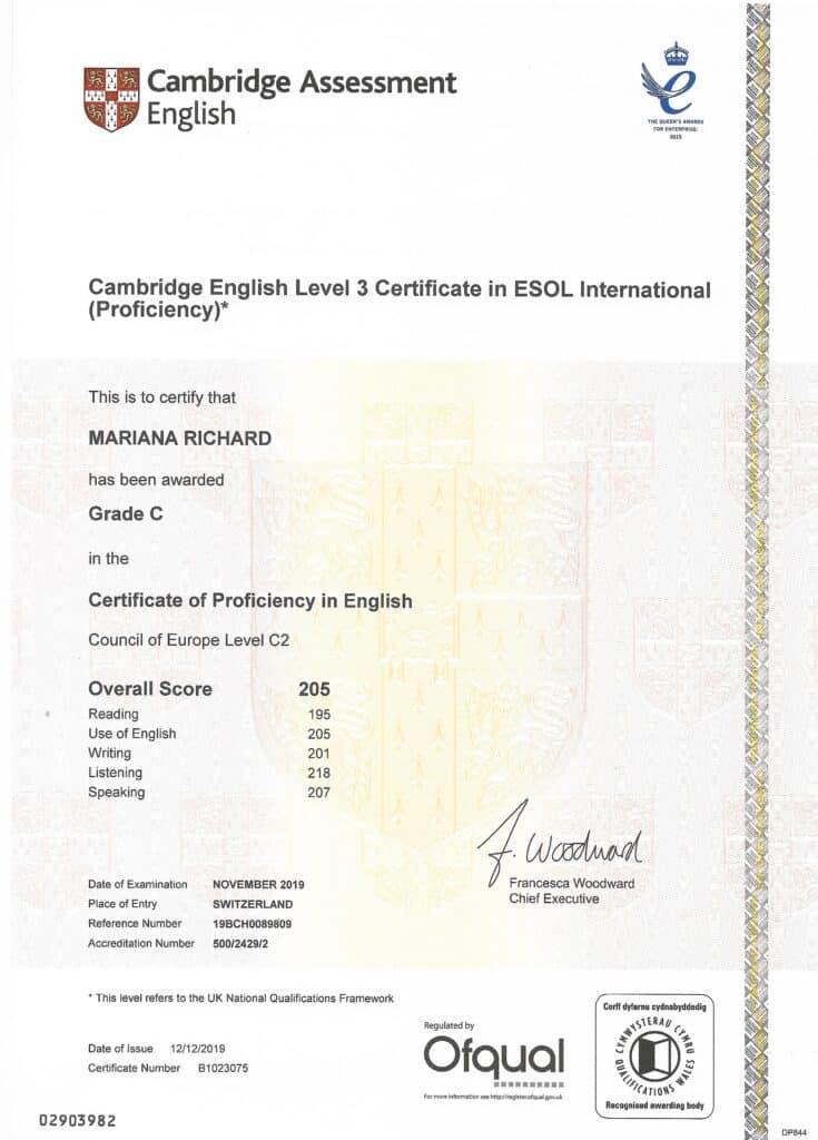 Proficiency Cambridge C2 Richard's English School